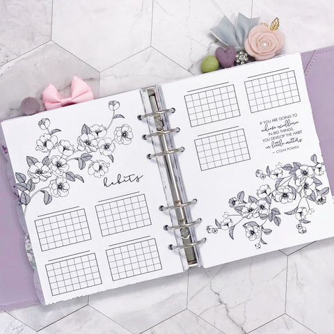B6 Rings Habit Tracking Planner