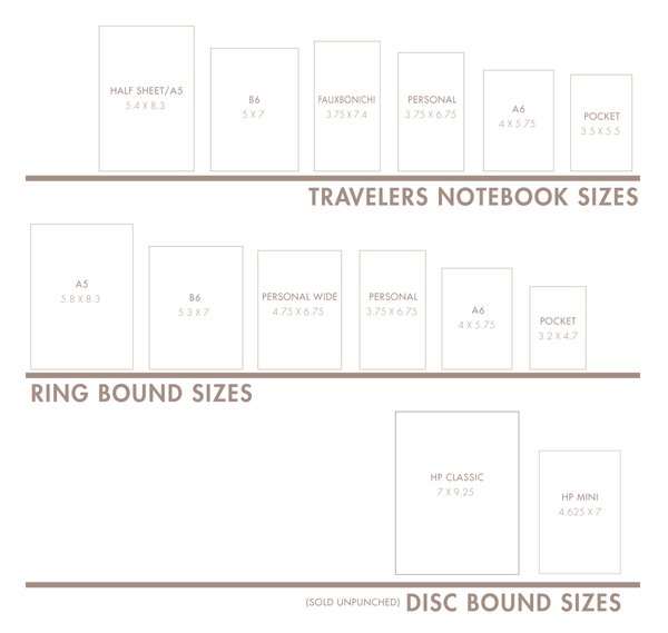 Planner Size Guide
