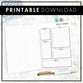 Undated Weekly Overview | Doodle Style | Printable