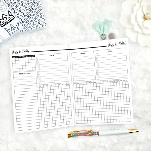 Undated All Inclusive Monthly Planning Insert | Printable