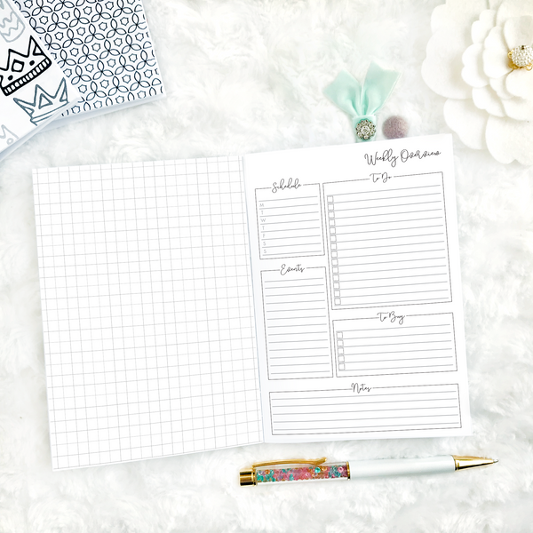 Undated Script All Inclusive Monthly Planning Insert | Printed
