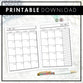 Dated Monthly Doodle | 2020 | Printable