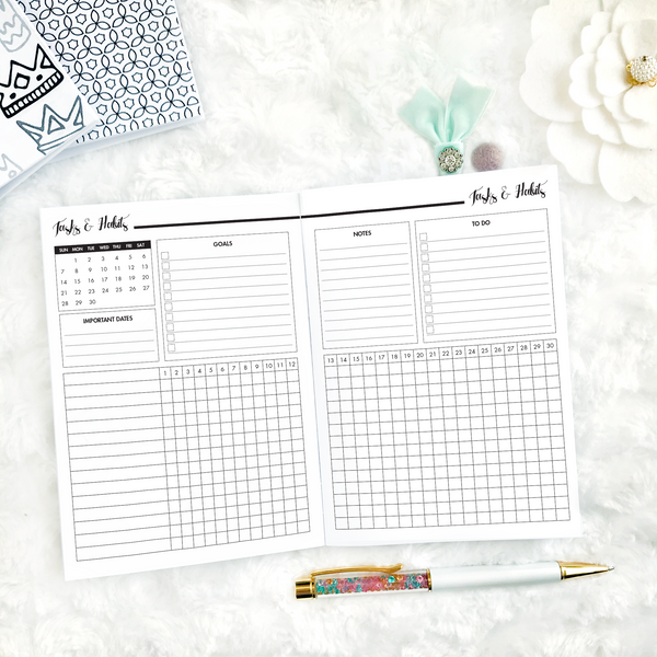 Dated Basic All Inclusive Monthly Planning Insert | Layout E | 2020-21 | Printed