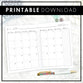 Dated Monthly Script | 2020 | Printable