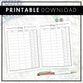 Afterpay Tracker | Printable