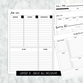 Dated Basic All Inclusive Monthly Planning Insert | Layout D | 2020 | Printed