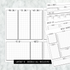 Dated Doodle All Inclusive Monthly Planning Insert | Layout B | 2020 | Printed