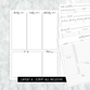 Dated Script All Inclusive Monthly Planning Insert | Layout A | 2020-21 | Printed