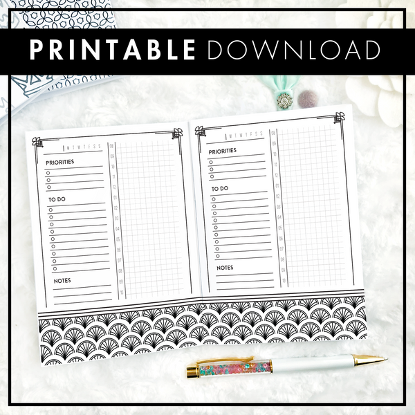 Art Deco Daily | Horizontal | Printable