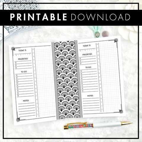 Art Deco Daily | Vertical | Printable