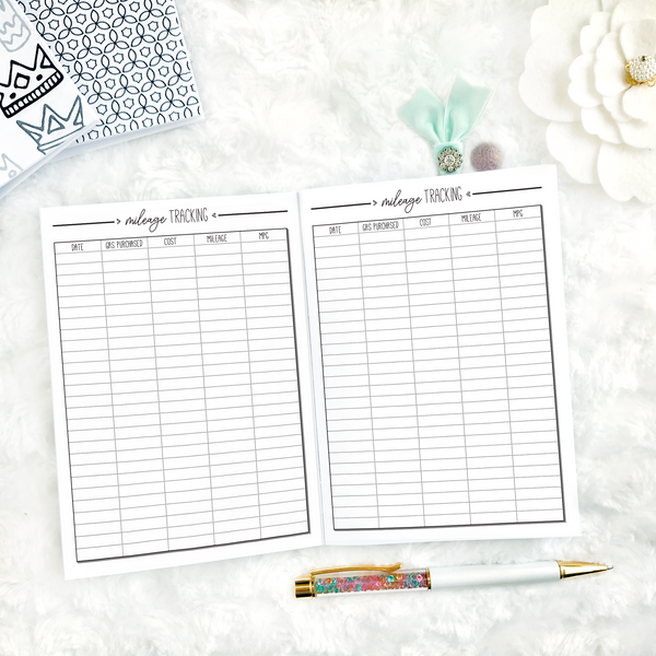 Auto Mileage Tracker | Printable