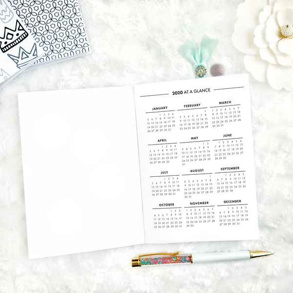 Dated Monthly Glance | 2021 | Printable