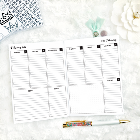 Dated Weekly Vertical Lined/Timed | 2021 | Printable