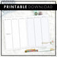 WO4P Vertical Weekly | Script Headers | Blank Columns | Printable