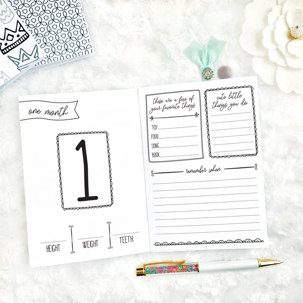 Baby's First Year - 12 Month Memory Keeper | Printable