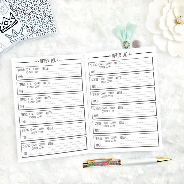 Baby Diaper Log | Printed