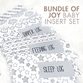 Bundle of Joy Baby Insert Set | Printed