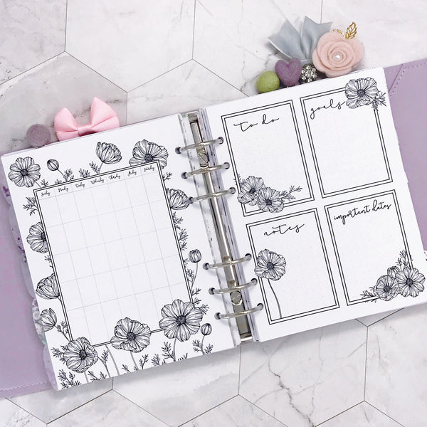 Themed Monthly All Inclusive Planner - Botanical Series | Printed