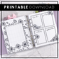 Themed Monthly All Inclusive Planner - Botanical Series | Printable