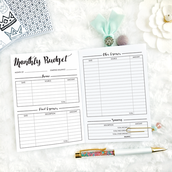 Dated Basic All Inclusive Monthly Planning Insert | Layout A | 2020 | Printed
