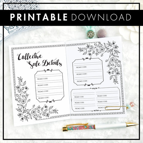 Collective Sale Tracker | Printable