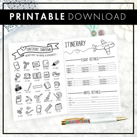 Conference Planner | Printable