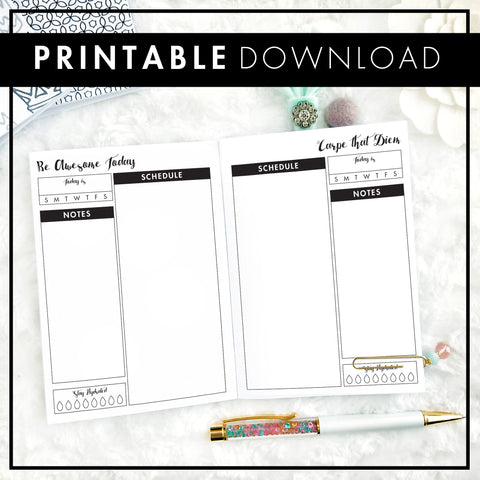 Undated Daily Blank Columns | Printable