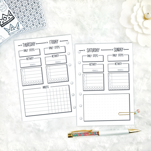 Health Tracker | Doodle Style | Printable