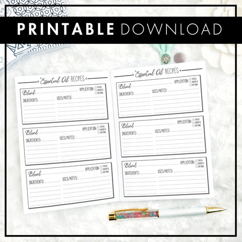 Essential Oil Planner | Printable