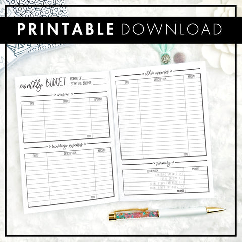 Financial Planner & Budget 2.0 | Printable