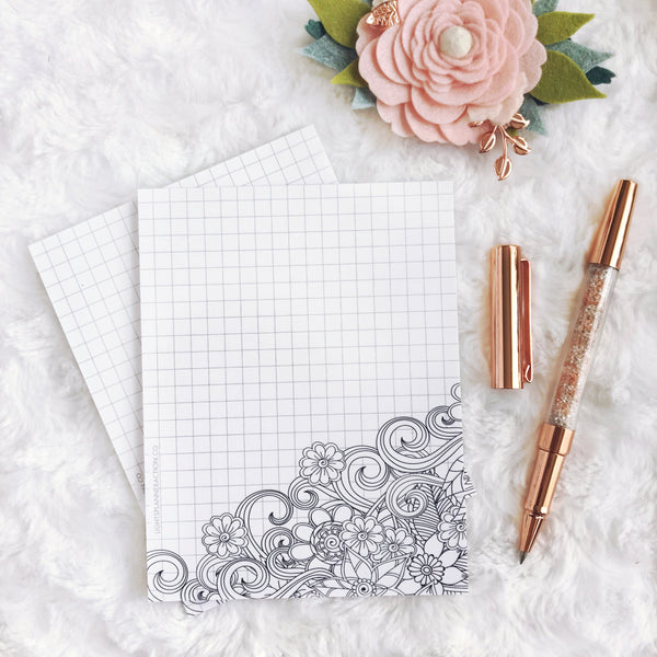 Notepad | Floral Graph | Printed