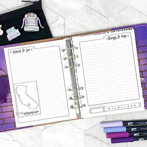 Go Wild - Wild Planning Insert | Go Wild Official Merchandise | Printable