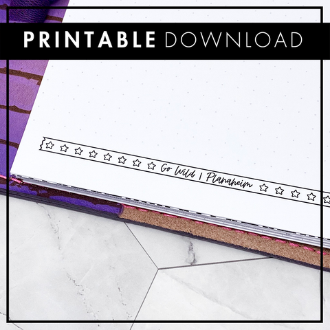Go Wild - Dot Grid Insert | Go Wild Official Merchandise | Printable