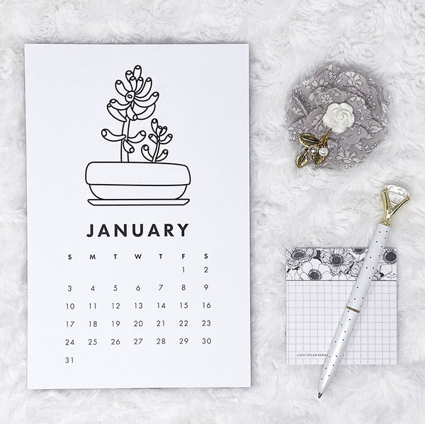 2021 Calendar | Grow Up | Vertical Notepad | Printed