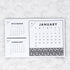 2021 Calendar | Tri-Month | Horizontal Notepad | Printed