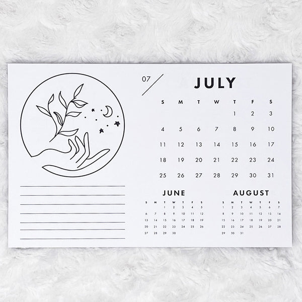 2021 Calendar | In Your Hands | Horizontal Notepad | Printed