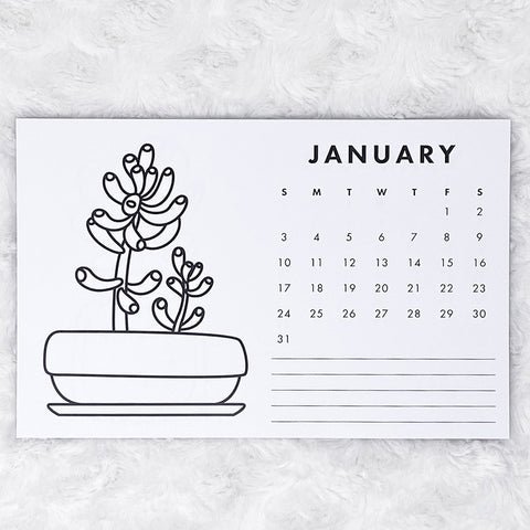 2021 Calendar | Grow Up | Horizontal Notepad | Printed