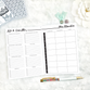 Meal Planner & Grocery List | En Español | Printed