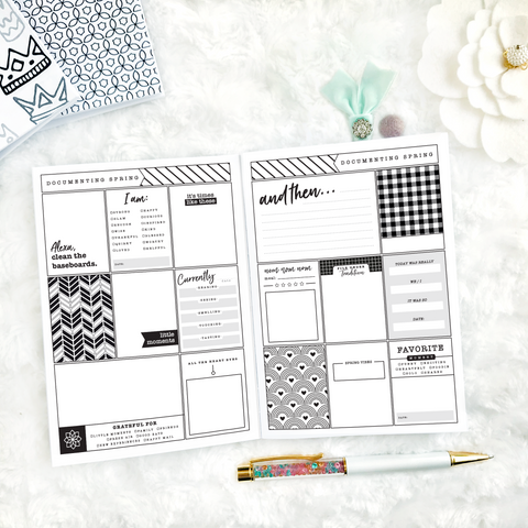 Memory Keeper | Yearly with Journaling Prompts | Printed