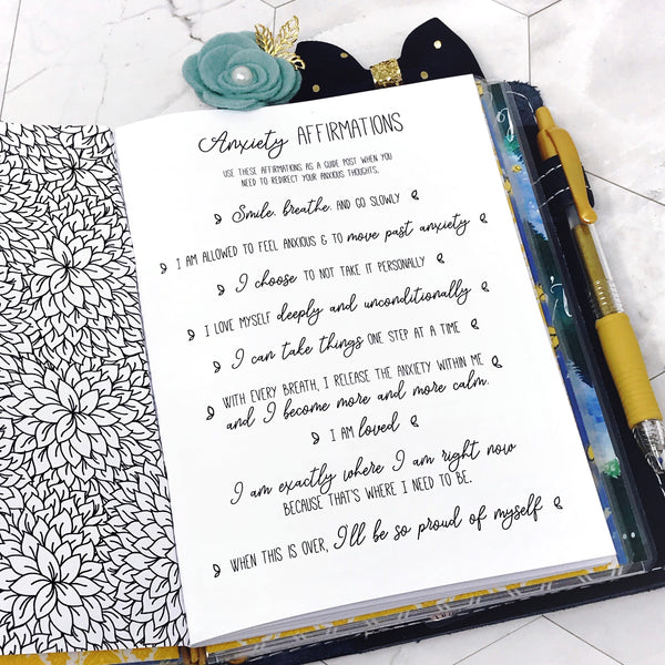 Mental Notes | Mental Health Journal | Planner Fairy Collab | Printable