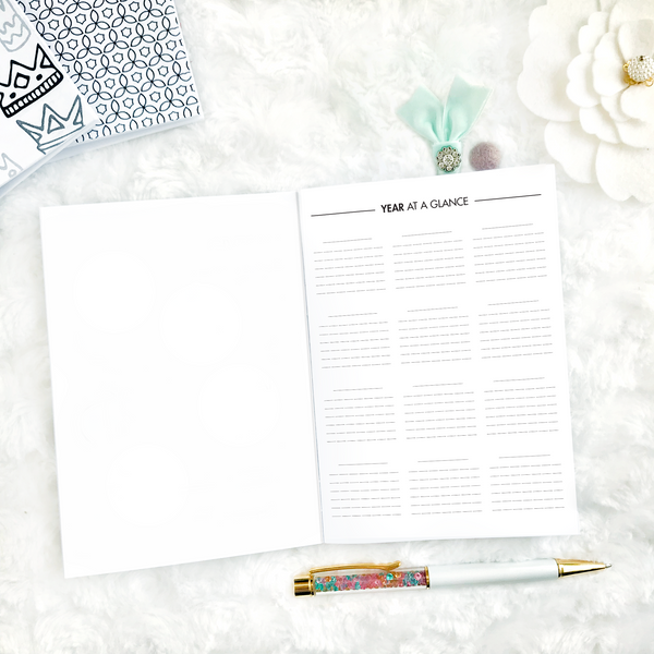 Undated Monthly Glance | Monday Start | Printable