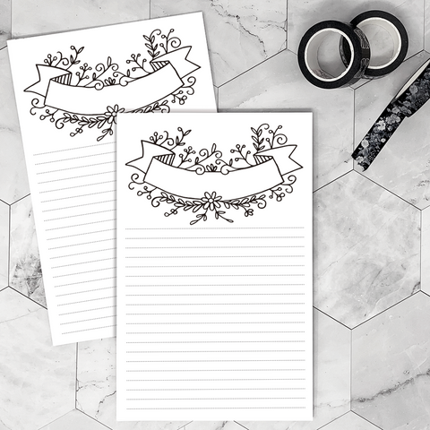 Notepad | Floral Notes | Printed