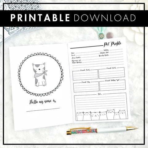 Pet Planner - Cat | Printable