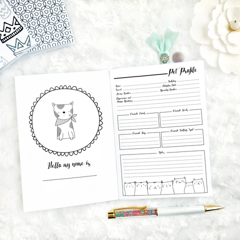 Pet Planner - Cat | Printed