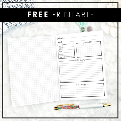 Podcast Notes | FREE Printable