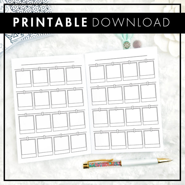 Polaroid Journal Insert | Superfecta | Printable