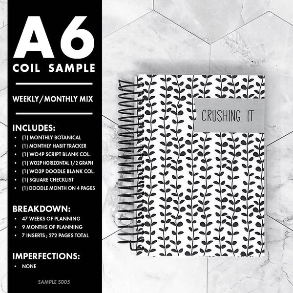 A6 Coil Sample: Weekly/Monthly Mix | S005