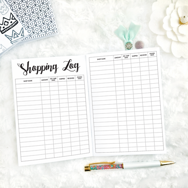 Shopping Tracker | Printed