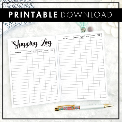 Shopping Tracker | Printable
