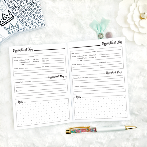 Spoonie Series | Appointment Tracker | Printed